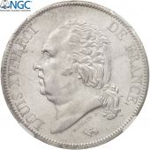 France, Louis XVIII, 5 Francs, 1818 W, Lille, NGC MS61, KM:711.13
