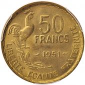 France, Guiraud, 50 Francs, 1951, Paris, PCGS, MS65, FDC, Aluminum-Bronze