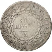 France, Louis XVI, Écu de 6 livres, 1793, Paris, TB, KM:615.1