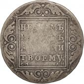 Russie, Paul I, Rouble, 1801, St. Petersburg, B+, Argent, KM:101a