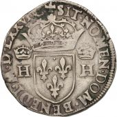 France, Henri III, Teston, 1576, Toulouse, EF(40-45), Silver, Sombart:4654