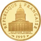 France, Panthéon, 100 Francs, 1999, Paris, FDC, Or