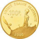 France, Petit Prince, 100 Francs, 2000, Paris, FDC, Or, KM:1264, Gadoury:C254
