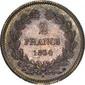 France, Louis-Philippe, 2 Francs, 1834, Strasbourg, MS(63), Silver, KM:743.3