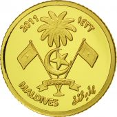 MALDIVE ISLANDS, 20 Rufiyaa, 2011, Valcambi, FDC, Or, KM:107