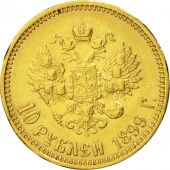 Russia, Nicholas II, 10 Roubles, 1899, St. Petersburg, EF(40-45), Gold, KM:64