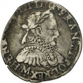 France, Henri III, Teston, 1576, Toulouse, VF(30-35), Silver, Sombart:4654
