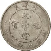 Chine, CHIHLI PROVINCE, Kuang-hs, Dollar, 1908, Peiyang Arsenal, TTB, Argent