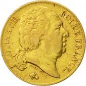 Coin, France, Louis XVIII, Louis XVIII, 20 Francs, 1817, Paris, EF(40-45), Gold