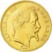 France, Napoleon III, 50 Francs, 1865, Paris, MS(60-62), Gold, KM:804.1