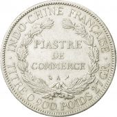 FRENCH INDO-CHINA, Piastre, 1906, Paris, EF(40-45), Silver, KM:5a.1