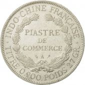 FRENCH INDO-CHINA, Piastre, 1924, Paris, AU(50-53), Silver, KM:5a.1