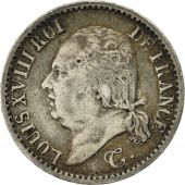 France, Louis XVIII, 1/4 Franc, 1822, Paris, EF(40-45), Silver, KM:714.1