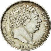 Great Britain, George III, 6 Pence, 1817, MS(60-62), Silver, KM:665