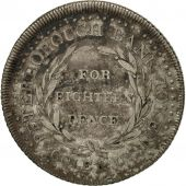 Grande-Bretagne, Peterborouch Bank Token, 18 Pence, 1811, TB+, Argent