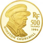 France, Churchill, 500 Francs, 1994, Paris, FDC, Or, KM:1049, Gadoury:C82