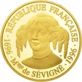 France, Mme de Sévigné, 500 Francs, 1996, Paris, FDC, Or, KM:1139