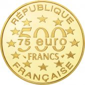 France, Lisbonne, 500 Francs-75 Euro, 1997, Paris, MS(65-70), Gold, KM:1175