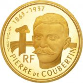 France, Pierre de Coubertin, 500 Francs, 1991, Paris, SPL, Or, KM:1000