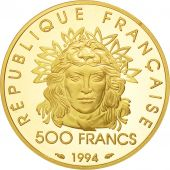 France, Héraclès, 500 Francs, 1994, Paris, MS(65-70), Gold, KM:1059