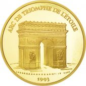 France, Arc de Triomphe, 500 Francs-70 Ecus, 1993, Paris, FDC, Or, KM:1034