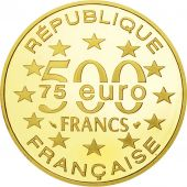 France, Cathédrale Vienne, 500 Francs-75 Euro, 1996, Paris, MS(65-70), Gold