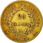 France, Napoléon I, 20 Francs, 1813, Paris, TTB, Or, KM:695.1, Gadoury:1025