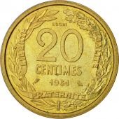 France, 20 Centimes, 1961, Robert, SPL, Cupro-nickel Aluminium, KM:E106