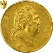 France, Louis XVIII, 40 Francs, 1818, Paris, PCGS, MS63, SPL, Or, KM:713.1