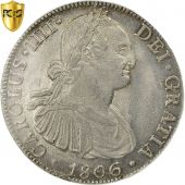Mexico, Charles IV, 8 Réales, 1806, Mexico City, PCGS, Genuine, MS(60-62)