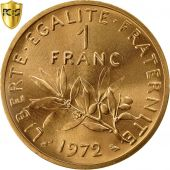 France, Franc, 1972, Paris, PCGS, SP69, Piefort, Gold, KM:P454, graded