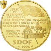France, 500 Francs, 1994, Leclerc, PCGS, PR69DCAM, MS(65-70), Gold, KM:1051