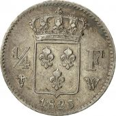 France, Louis XVIII, 1/4 Franc, 1823, Lille, EF(40-45), Silver, KM:714.11