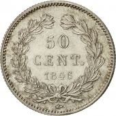 France, Louis-Philippe, 50 Centimes, 1846, Paris, MS(60-62), Silver, KM:768.1