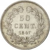 France, Louis-Philippe, 50 Centimes, 1847, Paris, MS(60-62), Silver, KM:768.1