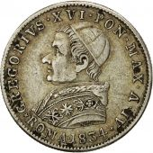 États italiens, PAPAL STATES, Gregory XVI, 20 Baiocchi, 1834, Roma, TTB