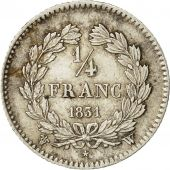Coin, France, Louis-Philippe, 1/4 Franc, 1831, Lille, EF(40-45), Silver