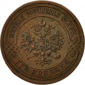 Monnaie, Russie, Nicholas II, 3 Kopeks, 1913, St. Petersburg, TTB, Cuivre