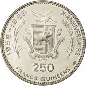 Coin, Guinea, 250 Francs, 1970, MS(63), Silver, KM:12