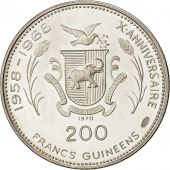 Coin, Guinea, 200 Francs, 1970, MS(63), Silver, KM:10