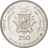 Coin, Guinea, 250 Francs, 1969, MS(63), Silver, KM:13
