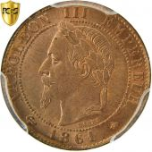 Coin, France, Napoleon III, Centime, 1861, Paris, PCGS, MS64RD, KM:795.1