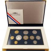 Coin, France, Proof Set Franc, 1996, Paris, dont 5 Francs tranche striée
