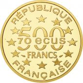 Monnaie, France, Arc de Triomphe, 500 Francs-70 Ecus, 1993, SPL, Or, KM:1034