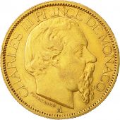 Coin, Monaco, Charles III, 100 Francs, Cent, 1884, Paris, EF(40-45), Gold, KM:99