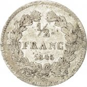 Coin, France, Louis-Philippe, 1/2 Franc, 1843, Lille, VF(30-35), Silver