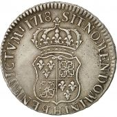 Coin, France, Louis XV, Écu de France-Navarre, Ecu, 1718, La Rochelle