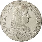 Coin, France, Louis XIV, Écu à la cravate, Ecu, 1679, Aix, EF(40-45), Silver