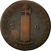 Coin, Haiti, 2 Centimes, 1830, F(12-15), Copper, KM:A22