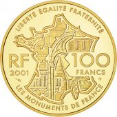 Monnaie, France, Tour Eiffel, 100 Francs, 2001, FDC, Or, Gadoury:C302, KM:1275